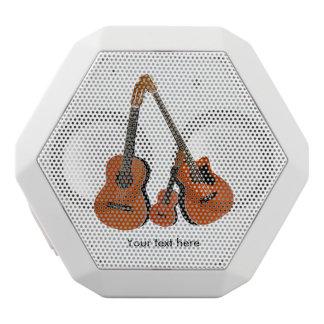 Spanish Guitar Acoustic Bass and Ukulele White Bluetooth Speaker