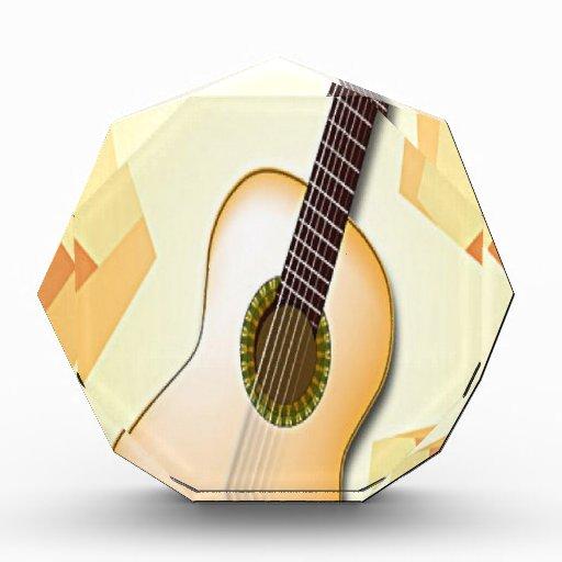 Spanish guitar design acrylic award