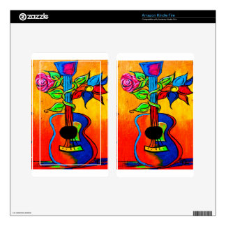 Spanish Guitar Kindle Fire Decal
