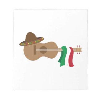 Spanish Guitar Memo Notepad