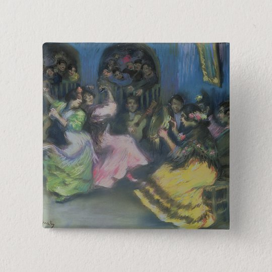 Spanish Gypsy Dancers, 1898 Button