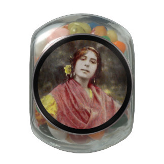 Spanish Gypsy Woman Jelly Belly Candy Jars