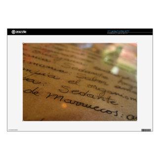 Spanish handmade manuscript #1 laptop skins