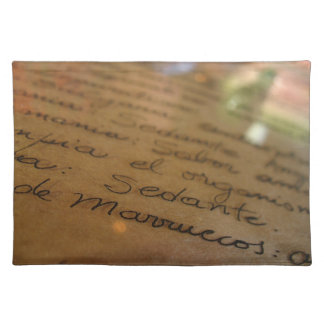 Spanish handmade manuscript #1 cloth placemat