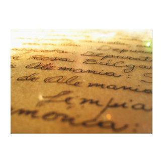 Spanish handmade manuscript #2 canvas print