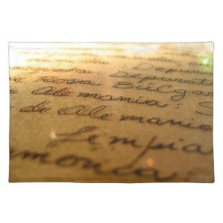 Spanish handmade manuscript #2 cloth place mat