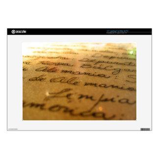 """Spanish handmade manuscript #2 skin for 15"""" laptop"""
