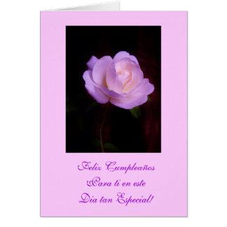 Spanish: Happy Birthday/ Feliz Cumpleanos Lv Card