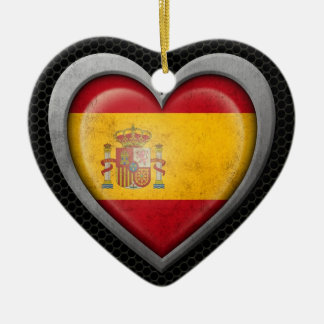 Spanish Heart Flag Steel Mesh Effect Ornament