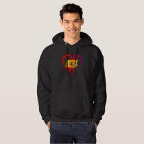Spanish heart hoodie