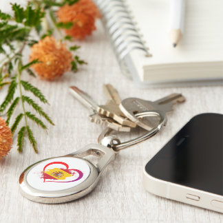 Spanish heart keychain