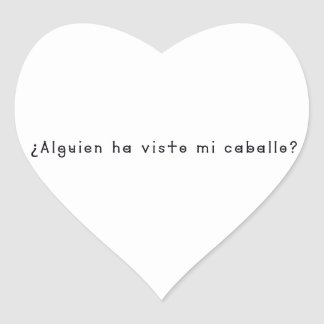 Spanish-Horse Heart Sticker