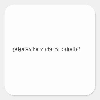 Spanish-Horse Square Sticker