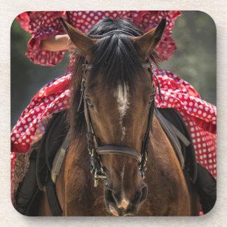 Spanish Horseback Riding Beverage Coaster