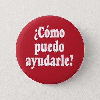 Spanish How May I Help You - Como puedo ayudarle Button