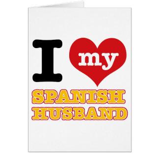 Spanish I heart designs Card