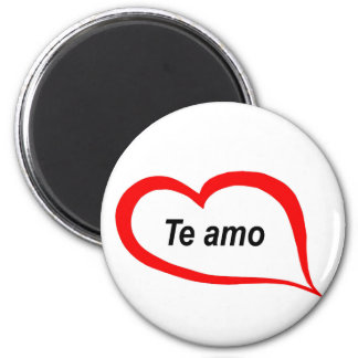 Spanish I love you 2 Inch Round Magnet