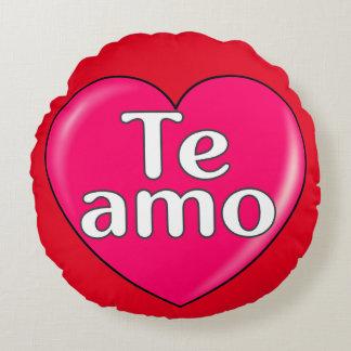 Spanish - I love you Round Pillow
