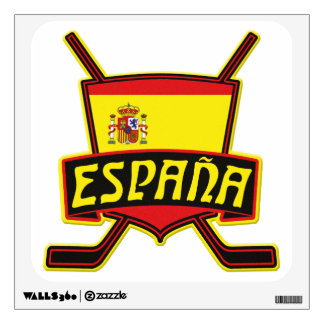 Spanish Ice Hockey Flag Wall Sticker