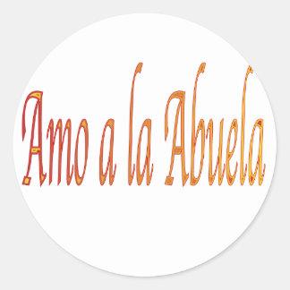 spanish.iluvgrandma classic round sticker