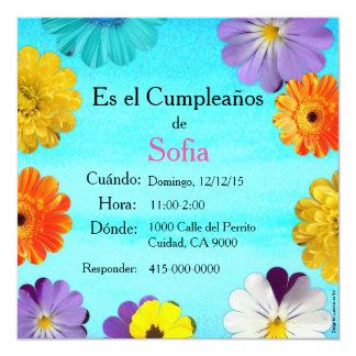 Spanish: Invitación de cumpleaños/ Birthday Card