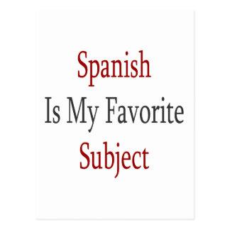 Spanish Is My Favorite Subject Postcard