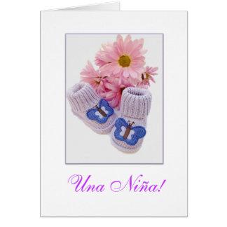 Spanish: It's a girl! Una Niña! Card