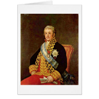 Spanish Justice Minister By Francisco De Goya Greeting Card