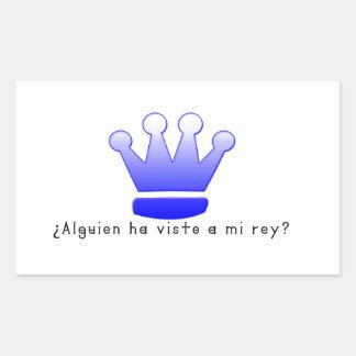Spanish-King Rectangular Sticker