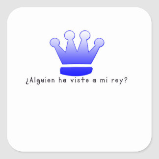 Spanish-King Square Sticker
