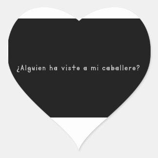 Spanish-Knight Heart Sticker