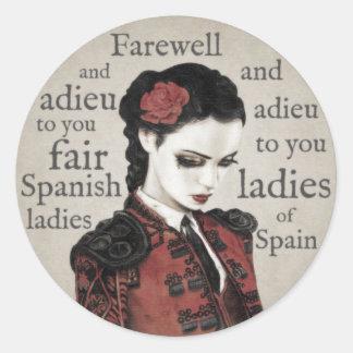 Spanish Ladies Stickers