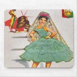Spanish Lady Vintage Inspired Mousepad