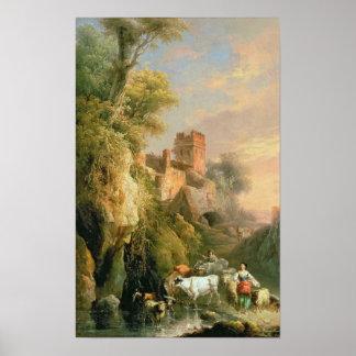 Spanish landscape poster