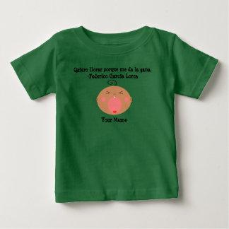 Spanish Language Cute Crying Baby T-Shirt