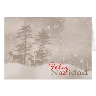 Spanish Language Happy Holidays Stylish Christmas Card