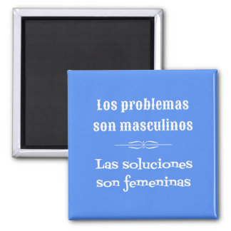 Spanish language learning grammar quote blue 2 inch square magnet