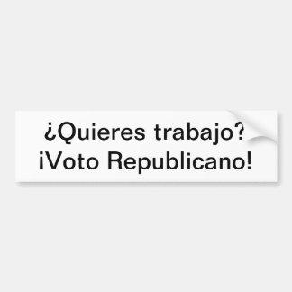 Spanish Language Republican Bumper Sticker