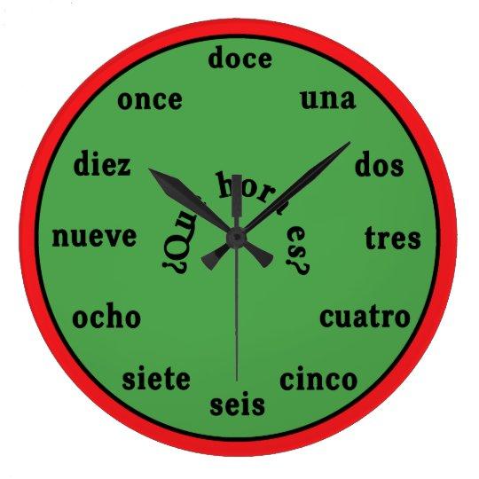 Spanish Language Wall Clock Zazzle Com