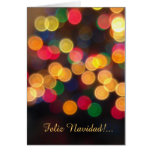 Spanish: luces navideñas -Christmas lights Card