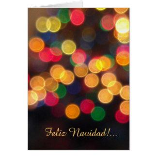 Spanish: luces navideñas -Christmas lights Card