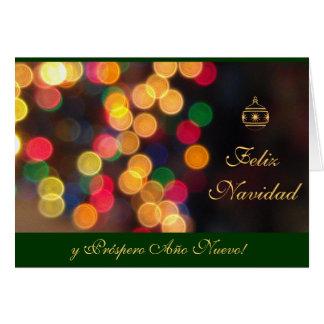 Spanish: Luces Navidenas  - Navidad Cards