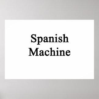 Spanish Machine Poster