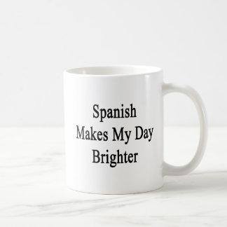 Spanish Makes My Day Brighter Coffee Mug