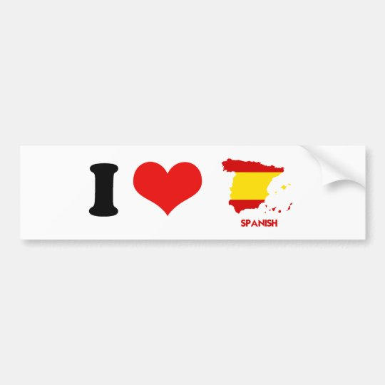 SPANISH MAP BUMPER STICKER
