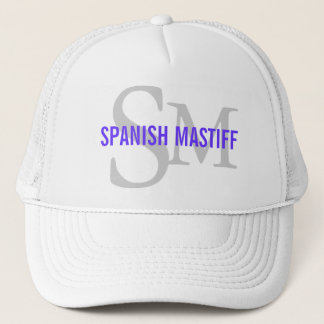 Spanish Mastiff Breed Monogram Design Trucker Hat