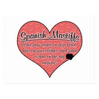 Spanish Mastiff Paw Prints Dog Humor Postcard