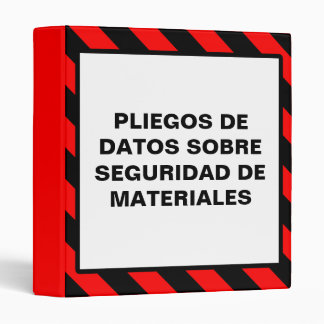Spanish Material Safety Data Sheet Binder