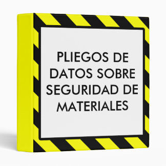 Spanish Material Safety Data Sheet OSHA Binder