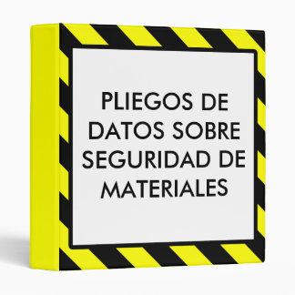 Spanish Material Safety Data Sheet OSHA Binder